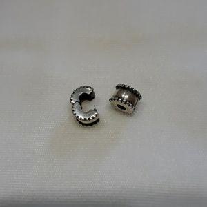 Pandora Beveled Silver Clip Beads x 2